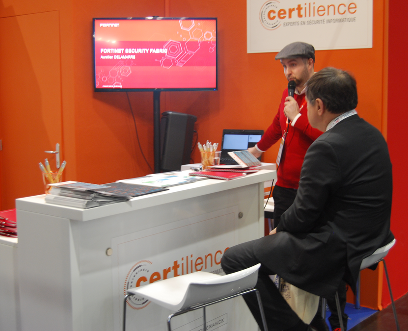 Certilience au FIC 2018 - fortinet