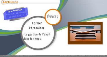webinar formation audit de sécurité audit dans la durée former pérenniser