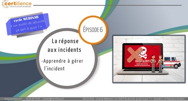 video webinar cycle audit - la réponse aux incidents