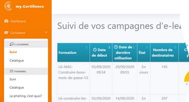nouvelle plateforme CertiAware my.Certilience campagnes de sensibilisation des utilisateurs