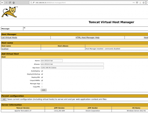 exploitation d'un tomcat, tomcat host manager avant déploiement