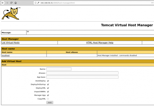 virtual host manager