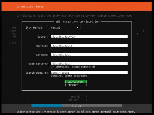 configurer les connections réseaux Ubuntu