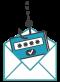 icone envoi mail de phishing
