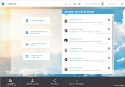PostFiles de Oodrive, solution de partage de fichiers sécurisée