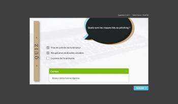 formatio e-learning certiAware, le quiz de fin pour tester ses connaissances