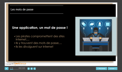 formation e-learning certiAware sur les mots de passe