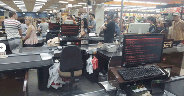 ransomware petya - supermarché ukraine