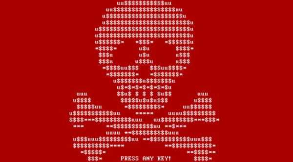ransomware petya - tete de mort