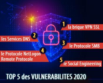 top 5 vulnérabilités 2020