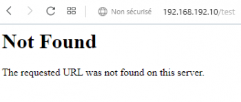 message Page not Found, sans fuite d'information