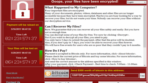 capture wannacry ransomware audit de sécurité